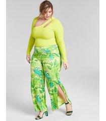 nina parker trendy plus size asymmetrical cutout bodysuit, created for macy's