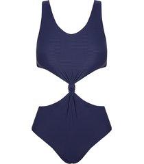 body rosa chá canel canelado sideral beachwear azul feminino (sideral, gg)