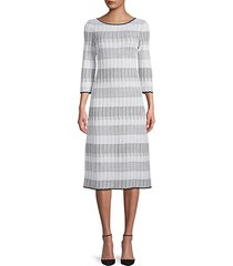 stripe knit sheath dress