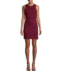 palmira sleeveless tweed sheath dress