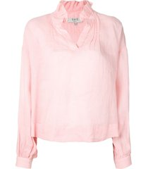 sea long-sleeve relaxed blouse - pink