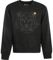 kenzo tiger patch ribbed sweatshirt