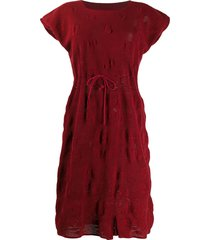 a.n.g.e.l.o. vintage cult 1960s knitted topstitching dress - red