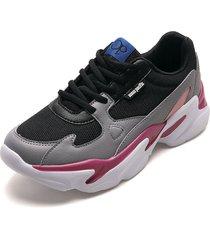 tenis running negro-gris-rosa-fucsia ocean pacific yuya-m4