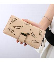 billetera mujeres- bolsos largos de la cartera de las-blanco
