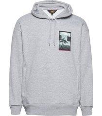graphic relaxed hood hoodie grå lee jeans