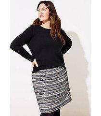 loft plus shimmer tweed shift skirt