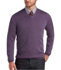 joseph abboud lavender v-neck merino wool sweater