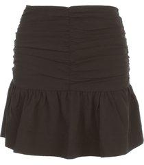 ganni heavy crepe short skirt