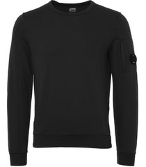 cp company light fleece sweatshirt - black coffee 071a002246g-392