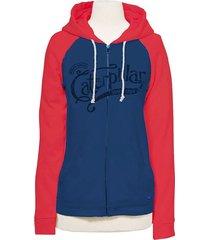 buzo azul cat script hoodie