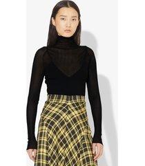 proenza schouler matte viscose knit turtleneck black xs