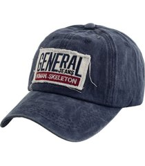 gorra azul bohemia vintage con parche