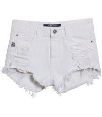 shorts john john boy gold coast sarja branco feminino (branco, 50)