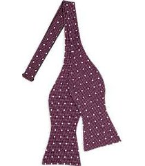 tommy hilfiger burgundy dots self-tie bow tie