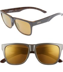 women's smith lowdown 2 55mm chromapop(tm) polarized square sunglasses - gravy tortoise