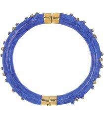 blue enamel diamond bracelet