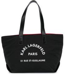 karl lagerfeld kids bolsa shopping rsg - preto