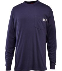wolverine men's fr long sleeve tee navy, size l