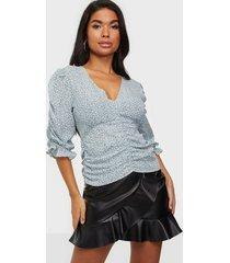 neo noir mimma mini tapestry blouse festblusar