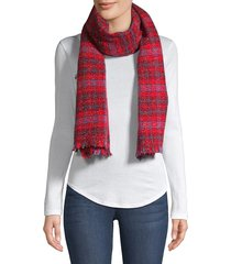 franco ferrari women's trikila sparkle plaid scarf - red