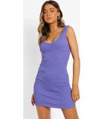 bodycon jurk met v-hals en bandjes, purple