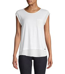 tiered-hem pocket tee