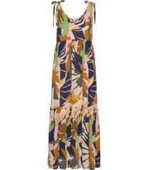 elizegz long dress hs20 maxi dress galajurk multi/patroon gestuz