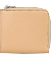 jil sander leather card holder with zip