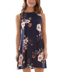 bcx juniors' floral-print a-line dress