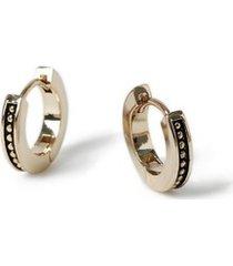 mens gold capsule hoop earrings*