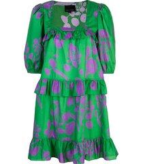 cynthia rowley kuaii ruffle swing dress - green