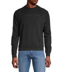 armani jeans men's logo sweatshirt - black - size xxl