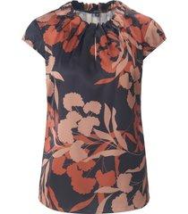blouse met korte vleugelmouwen van comma, multicolour