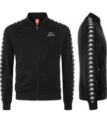chaqueta para hombre 222 banda bomber slim kappa negro kappa