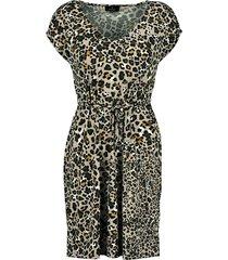 tricot jurk leopard