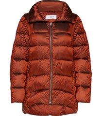 outdoor jacket no wo gevoerde lange jas rood gerry weber edition