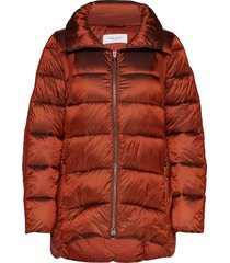 outdoor jacket no wo gevoerde lange jas rood gerry weber edition