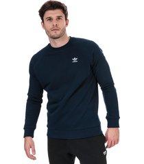 mens trefoil essentials crew sweatshirt