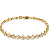 goldplated sterling silver, cubic zirconia & diamonique tennis bracelet