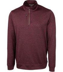 cutter & buck men's big and tall stealth half zip sweatshirt