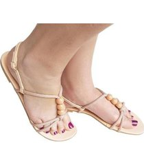 sandália aline melo tamanho especial feminina - feminino