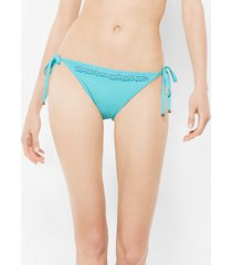 mk slip bikini con perline - turchese (blu) - michael kors
