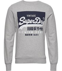vl o crew ub sweat-shirt trui grijs superdry