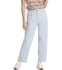 brixton victory high waist wide leg ankle pants, size 29 in blue at nordstrom