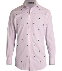 modern-fit stripe skull golf shirt