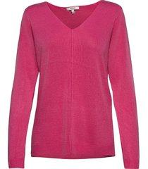 bymalea v neck jumper - stickad tröja rosa b.young