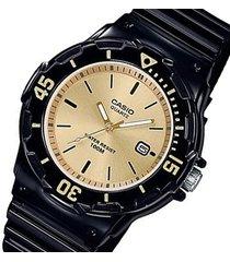 reloj casio en resina negro para dama  lrw-200h-9