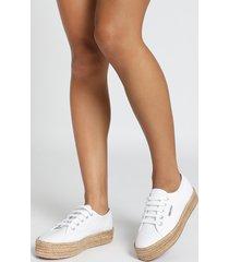 showpo superga - 2730 cotropew sneakers in white canvas - 11 the cosy