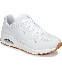 tenis blanco skechers uno stand on air 73690/wht mujer